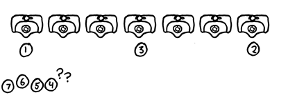 Eight cannot be used efficiently withou violating the tacit personal distance protocol.