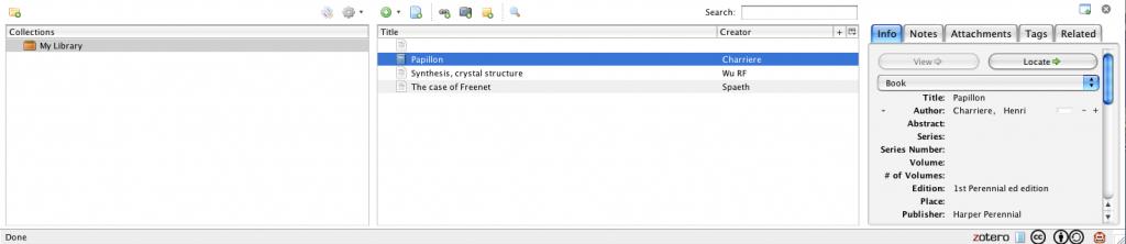Zotero as part of a Firefox window